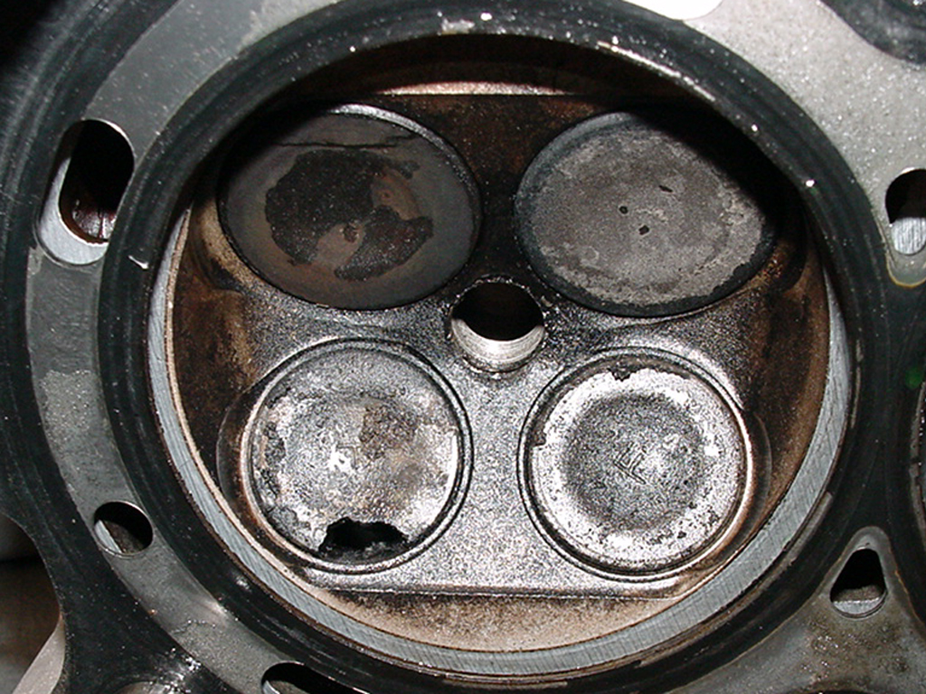 Honda burned exhaust valve cropped